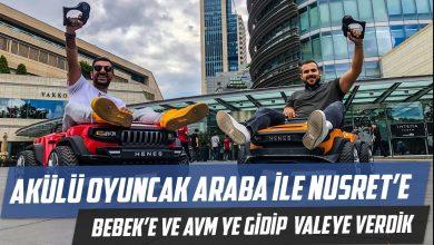 Photo of Akülü Oyuncak Arabayla Nusret'e Bebek'e ve AVM'ye Gidip Valeye Verdik