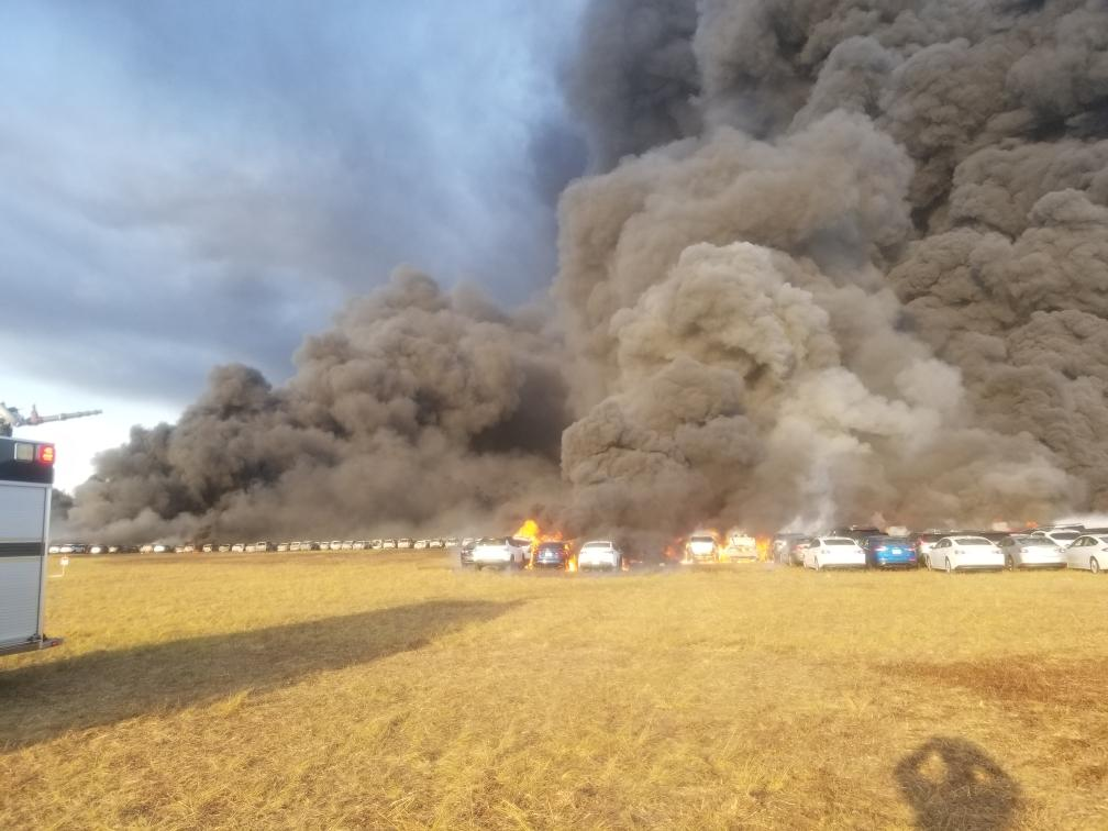 kiralık araç yangın